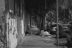 Charlas Nocturnas (KikoBlasco) Tags: villa crespo hood night talk barrio neighbors bed calle street blanco negro black withe buenos aires argentina