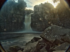 Teesdale High Force HDR (Dr Nigel) Tags: panasonic lumix dmcfz8 nd4 nd8 hdr waterfall river rivertees northeast england teesdale teesdalehighforce longexpwater countydurham