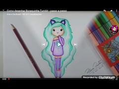 """VÍDEO ENSINANDO A DESENHAR UMA BONEQUINHA KAWAII (vídeo inteiro no canal """"ARTE E CIA BRASIL"""") (portalminas) Tags: vídeo ensinando a desenhar uma bonequinha kawaii inteiro no canal arteeciabrasil"""