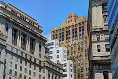 NYC - Financial District - Buildings facing Bowling Green (David Pirmann) Tags: nyc newyorkcity broadway financialdistrict fidi bowlinggreen skyscraper skyline