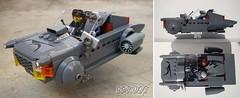 Hoovercar in grey (captain_joe) Tags: toy spielzeug 365toyproject lego minifigure minifig moc car auto zombieman jewell