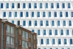 Old en new (on Explore) (Jan van der Wolf) Tags: map14644vve architecture architectuur contrast composition compositie building old new denhaag repetition herhaling lines lijnen apartmentbuilding windows ramen oldandnew oudennieuw leyweg flat houses woningen stadskantoor rudyuytenhaak tegenstelling