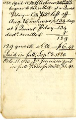 Seventh page of the Cambridge Milk Dealer Account Book (Cambridge Room at the Cambridge Public Library) Tags: cambridgemass commerce milk business accountbooks milkdelivery