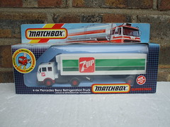 Matchbox Superkings Mercedes Refidgeration Truck 7-Up Livery Boxed 80's Retro Toy (beetle2001cybergreen) Tags: matchbox superkings mercedes refidgeration truck 7up livery boxed 80s retro toy