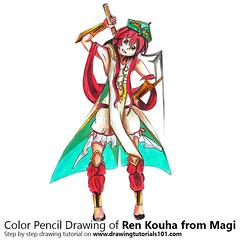 Ren Kouha from Magi with Color Pencils [Time Lapse] (drawingtutorials101.com) Tags: ren kouha magi manga japanese reim empire magician magnostadt sketch sketches sketching pencil draw drawing drawings color coloring how timelapse timelapsevideo