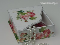 Advanced Decoupage Workshop: How to Decorate a Box in Shabby Chic Style (Smile Arty) Tags: gift present vintage handmade decoupage crafts arts workshop diy shabby chic advanced box