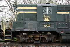 Jersey Central 1523 (kitmasterbloke) Tags: tuckahoe nj usa jersey railroad tourist iutdoor transport diesel locomotive train