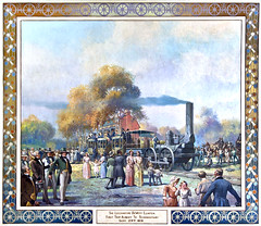 Lithgow - The Locomotive DeWitt Clinton (albany group archive) Tags: y history milne david cunningham lithgow painting mural 1943 schenectady railroad 1830s 1930s old albany ny vintage photos photograph historic historical