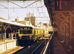 きになる電車 (Yukijiro.) Tags: 一眼レフ 期限切れフイルム 東急電鉄 池上線 110film 110zoomslrmark2 agfa110film minolta