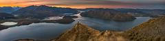 View from Coromandel Peak NZ (Ray Jennings AU) Tags: newzealand wanaka panorama wanakahelicopters nikond810 sigma35mm14 mountains lake mountaspiring sunset