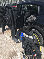 All done for today. (billybob298) Tags: dive gear 905 scuba tank fins subaru zeagle ranger regulator drysuit