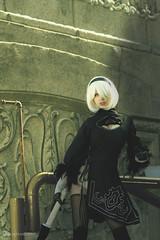 2b (JapanMinute) Tags: nier automata 2b chicago c2e2 cosplay lolita katana white hair