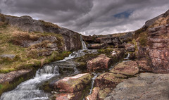 East Dart Waterfall (Dartmoor) (Nickerzzzzz - Thanks for stopping by :)) Tags: ©nickudy nickerzzzzz theartofphotography wwwdigittaliacom canoneos5dmarkiii ef1635mmf4lisusm dartmoor eastdart waterfall postbridge granite clouds sky landscape