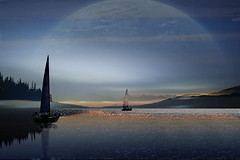 Celeste (Zz manipulation) Tags: ambrosioni zzmaqnipulation sera sea mare vela barca celeste