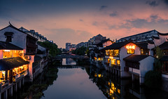 Qibao Dusk - Shanghai (Rob-Shanghai) Tags: qibao dusk shanghai china watertown river oldtown sunset rx10m2 sky