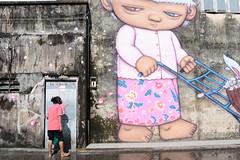 Phuket ,2016 (Sagun Tongnim) Tags: street photography photo thailand snap travel streetphoto streetphotography color phuket nikon d600 pink graffiti public place background person woman thai