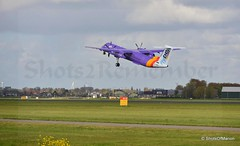 Flybe Bombadier Dash 8 Q400 ( G- JEDV ) departing from the Polderbaan Schiphol Airport to Exeter Airport Engeland (ShotsOfMarion) Tags: shotsofmarion shots2remember flickr nikon flybe schipholamsterdam flying departing vertrekken takeoff flybebombadierdash8q400gjedv flybebombadier airport polderbaan polderbaanschiphol aircraft air airplane vliegtuig