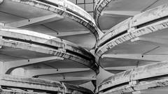 Space invaders #2 (pi3rreo) Tags: noisy parking paris seine arcades urbain urban ville extérieur city béton architecture denis noiretblanc fujinon fujifilm xe2 black white abstract abstrait