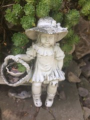 GARDEN STATUARY AND SUCCULENTS (kelsey61) Tags: garden gardens gardenstatuary statuary landscaping succulent succulents hensandchickens hensandchicks