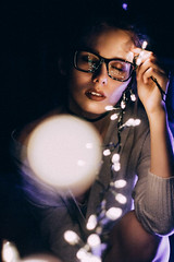 im (valeriezabosina) Tags: valeriezabosina newyear light lips lighteyes holiday glasses glass night nightlight bokeh girl eyes woman portrait selfportrait self