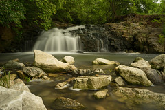 Farrington Reserve. (+Lonnie & Lou+) Tags: nature longexposure nisi ten stop travel ohio piqua usa landscape spring creek waterscape forest rural sony explore waterfall