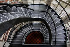 Chessboard (Elbmaedchen) Tags: staircase stairs treppenhaus treppenauge spirale lai wilmersdorf berlin