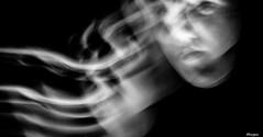 Ghost (moniquevantorenburg) Tags: ghost monochrome mono girl meisje motion beweging blackandwhite zwartwit olympus124028 olympusomdem5markii m43 mft microfourthirds mirrorless moniquevantorenburg model longexposure langesluitertijd portret portrait spooky