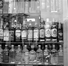 Off License, Oxford (davehyper) Tags: davehyper steamer alcohol shop bw film photography yashica mat124g kodak 400tx dave chapman dj