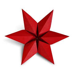 Modular Star (Evan Zodl) (EZ Origami) Tags: origami star modular 6 units simple easy ousa kraft red