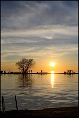 Rising Waters Setting Sun (Note-ables by Lynn) Tags: sunset port dalhousie ontario lakeontario harbour water dramaticskies