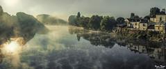 Chinon (Bruno. Thomé) Tags: pentaxk5 sigma1750mmf28 chinon brume matin rivière vienne france indreetloire