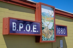 Elks Lodge, Burns, OR (Robby Virus) Tags: burns oregon or elks lodge bpoe 1680 sign signage fraternal organization club
