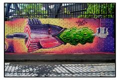 STREET ART by HNRX (StockCarPete) Tags: nhrx fish salmon streetart londonstreetart spraycanart aerosolart shoreditchart
