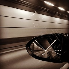 #Sweden #denmark #tunnel #rearviewmirror #blackandwhite #europe