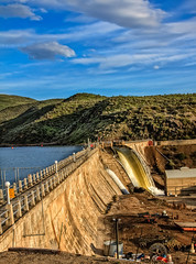 Black Canyon Dam (http://fineartamerica.com/profiles/robert-bales.ht) Tags: architecture dam easternidaho emmett facebook forupload gemcounty haybales idaho people photo photouploads places projects states hydroelectric concretedam payetteriver landscape canyon idahophotography scenic sensational spectacular awesome magnificent peaceful inspirational canonshooter northwestphotography sceniclandscapephotography erosion wow spillway water pacificnorthwest diversiondam ogeeoverflowspillway irrigation reservoir waterfall electricity river hydropower bureauofreclamation flowingwater blackcanyon spring