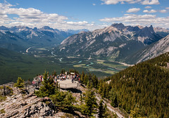 Bow Valley Views (Kristin Repsher) Tags: alberta banff banffgondola banffnationalpark bluesky bowriver bowvalley canada canadianrockies clouds d700 mountains nikon sulphurmountain walkway
