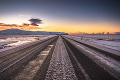 The Frozen Road (Fabio Todeschini ) Tags: iceland islanda road roads ice frozen cold alba sunrise sun light yellow beauty beautiful mountain snow iced lights sky nikon d7200 sigma polar gnd haida filter travel holiday love land snowy cloud fabiotode panorama landscape nature island north winter