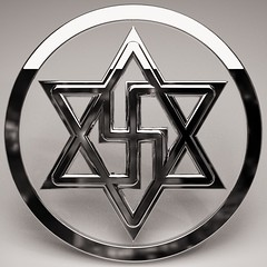 Raelian symbol (synartisis) Tags: raelian symbol rael swastika hexagon hexagram above below