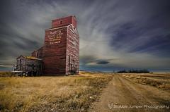 Esther Road (Explored) (Stubble Jumper) Tags: prairie alberta abandoned elevator grainelevator estheralberta ghosttown esther wheatpool albertawheatpool