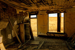 ...in the days still left we'll walk in fields of gold.... (KPortin) Tags: sting abandonedhouse windows decay derelict dirty fields hww lincolncounty