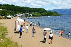 Inawashiro beach (Stop carbon pollution) Tags: japan 日本 honshuu 本州 touhoku 東北 fukushimaken 福島県