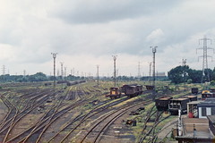 19860705 030 Temple Mills. Marshalling Yard With A Few Wagons Visible (15038) Tags: railways trains br britishrail templemills marshallingyard track sidings wagon goods freight