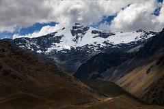 Andean Peaks (kate willmer) Tags: mountain snow cloud sunshine shadow pass andes alitplano peru