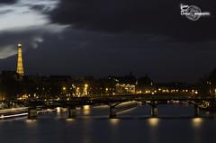Dark sky (Lonely Soul Design) Tags: dark sky long exposure longexpo eiffel tower paris clouds contrast bridge night nightscape cityscape