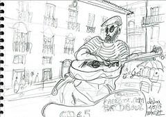 Lisbonne, quartier de l'Alfama (Croctoo) Tags: croctoo croquis croctoofr crayon lisbonne lisboa ville musicien