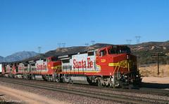 Stretching Them Out (GRNDMND) Tags: trains railroads santafe atsf locomotive ge b408w superfleet cajonpass summitvalley california
