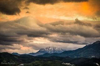 A dramatic sky over the Kelti mountain