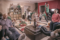 Our Family Portrait (Photos by Ish) Tags: multiplicity multiple photoshop clone portrait family creativeedit photography canon5d 5dmarkiii 5d