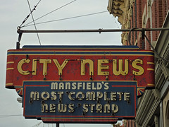 City News (BadBlackdog9) Tags: signs oldsigns oldfashioned roadside americana vintage mansfield ohio panasonic zs3 neon