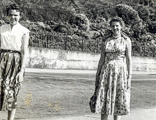 Nessie Brammer with Betty Watt  Dunoon 1950s
